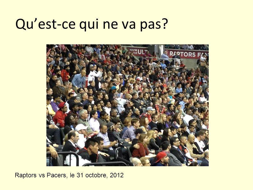 Qu'est-ce qui ne va pas Raptors vs Pacers, le 31 octobre, 2012