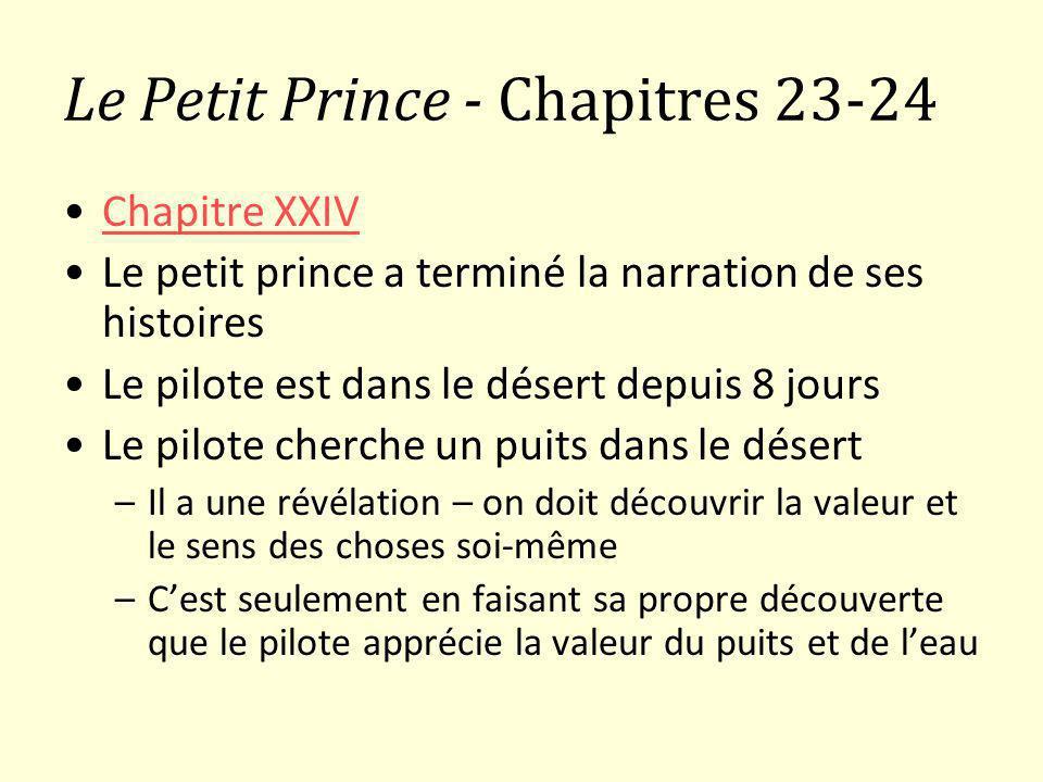 Le Petit Prince - Chapitres 23-24