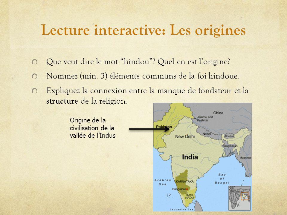 Lecture interactive: Les origines