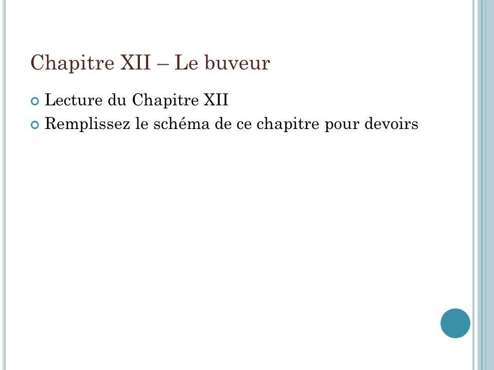 Chapitre XII – Le buveur
