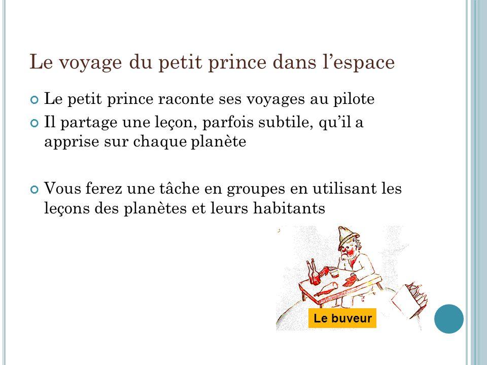 Le voyage du petit prince dans l'espace
