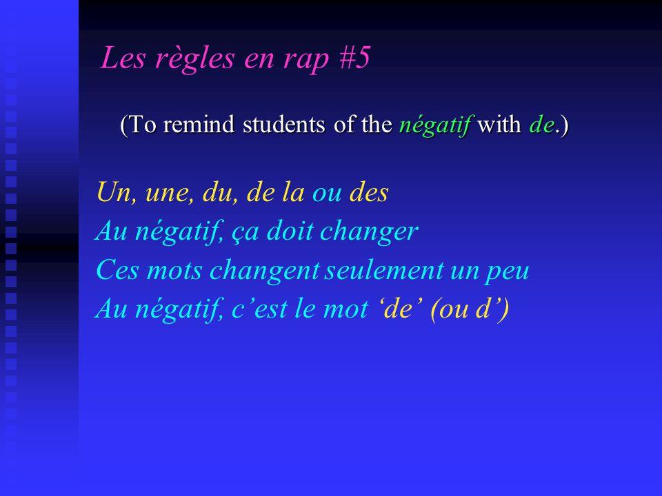 Les règles en rap #5 Un, une, du, de la ou des