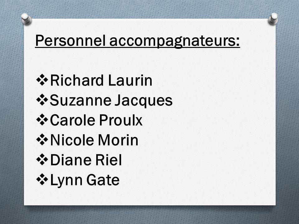 Personnel accompagnateurs: