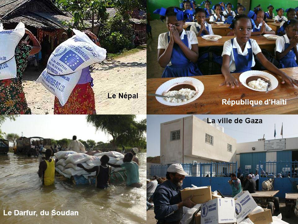 Le Népal République d Haïti La ville de Gaza Le Darfur, du Soudan