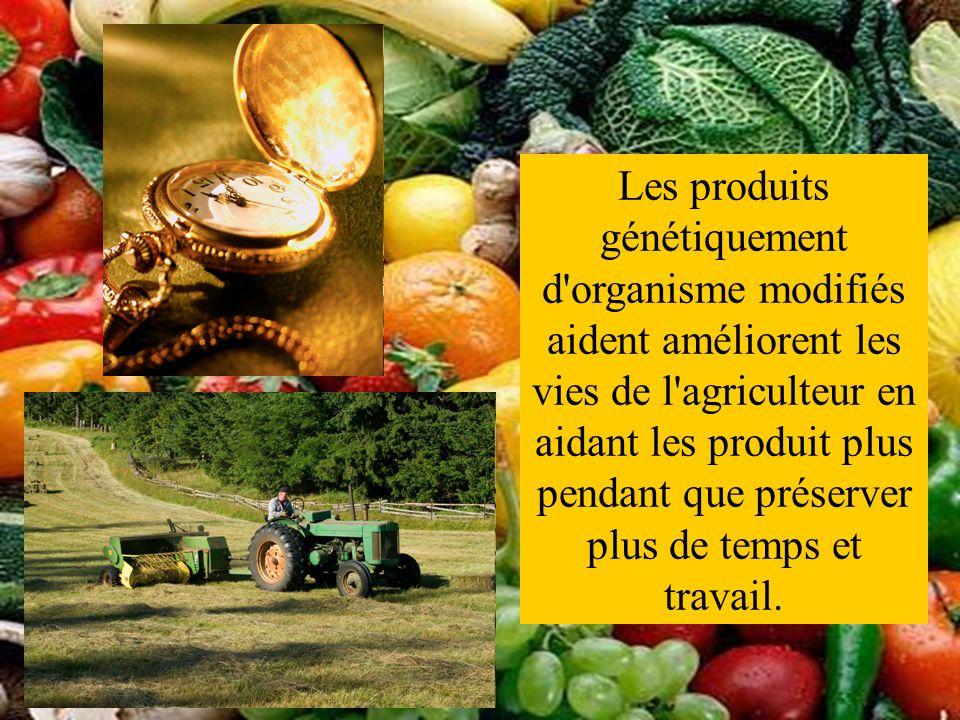 Les produits génétiquement d organisme modifiés aident améliorent les vies de l agriculteur en aidant les produit plus pendant que préserver plus de temps et travail.