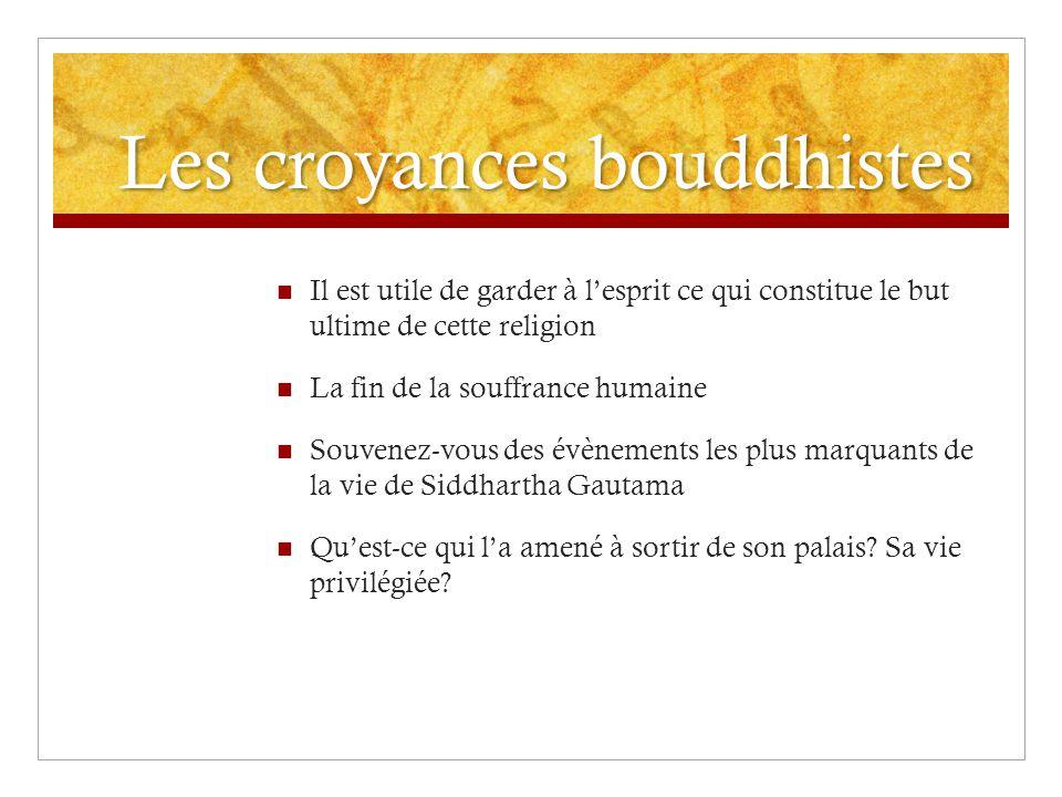 Les croyances bouddhistes