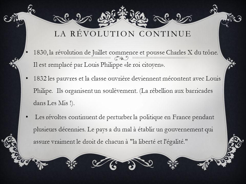 La révolution continue