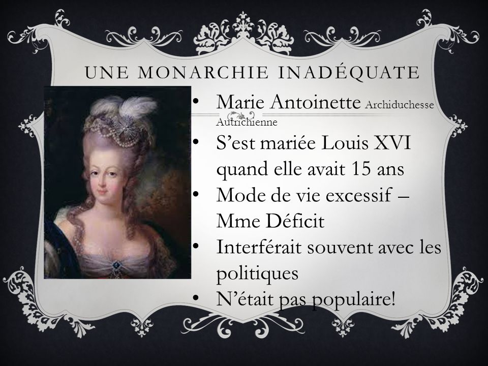 Une monarchie inadéquate