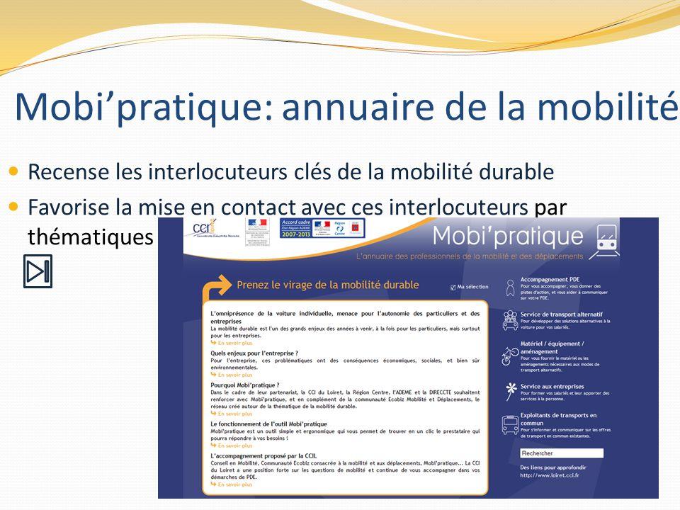 Mobi'pratique: annuaire de la mobilité