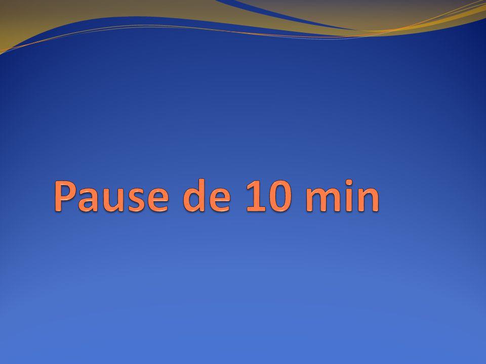 Pause de 10 min