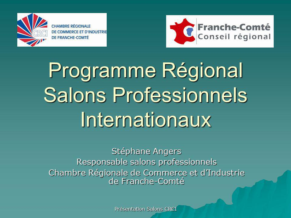 Programme Régional Salons Professionnels Internationaux