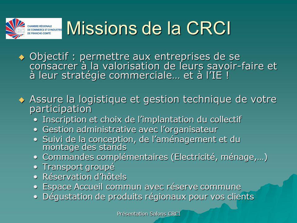 Présentation Salons CRCI