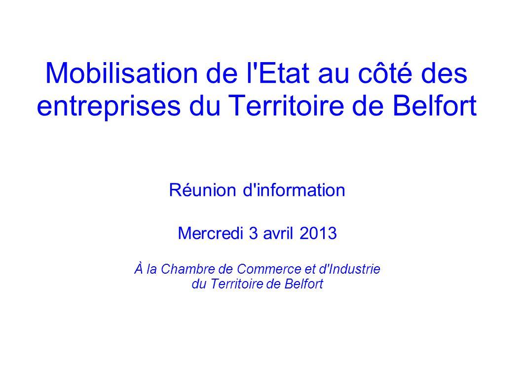 Mobilisation de l Etat au côté des entreprises du Territoire de Belfort