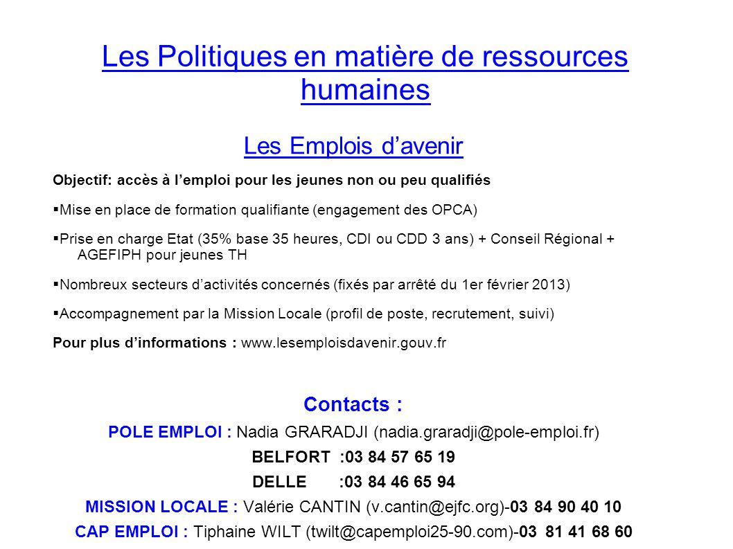 Les Politiques en matière de ressources humaines