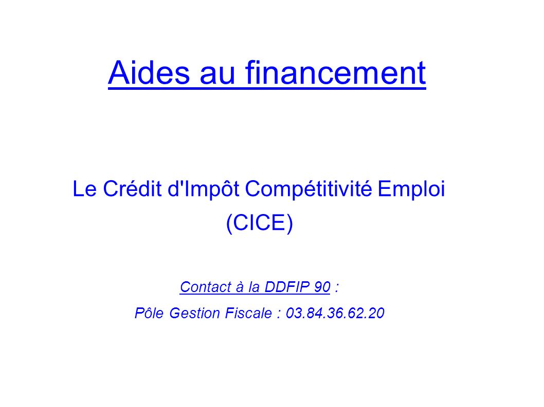 Le Crédit d Impôt Compétitivité Emploi