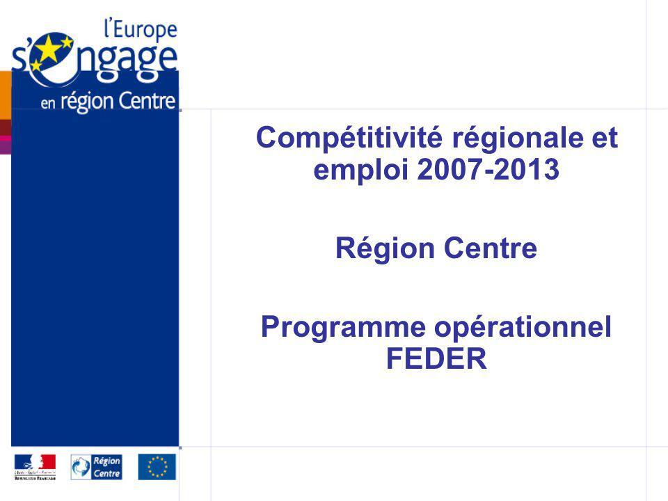Compétitivité régionale et emploi 2007-2013