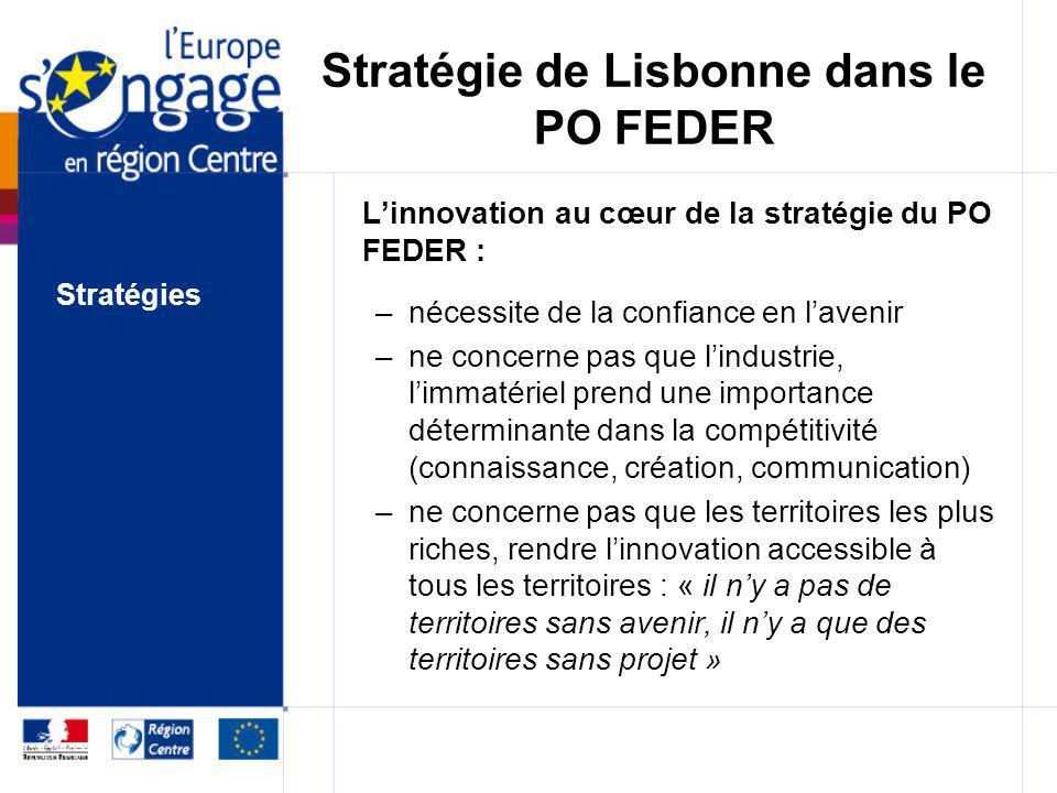 Stratégie de Lisbonne dans le PO FEDER