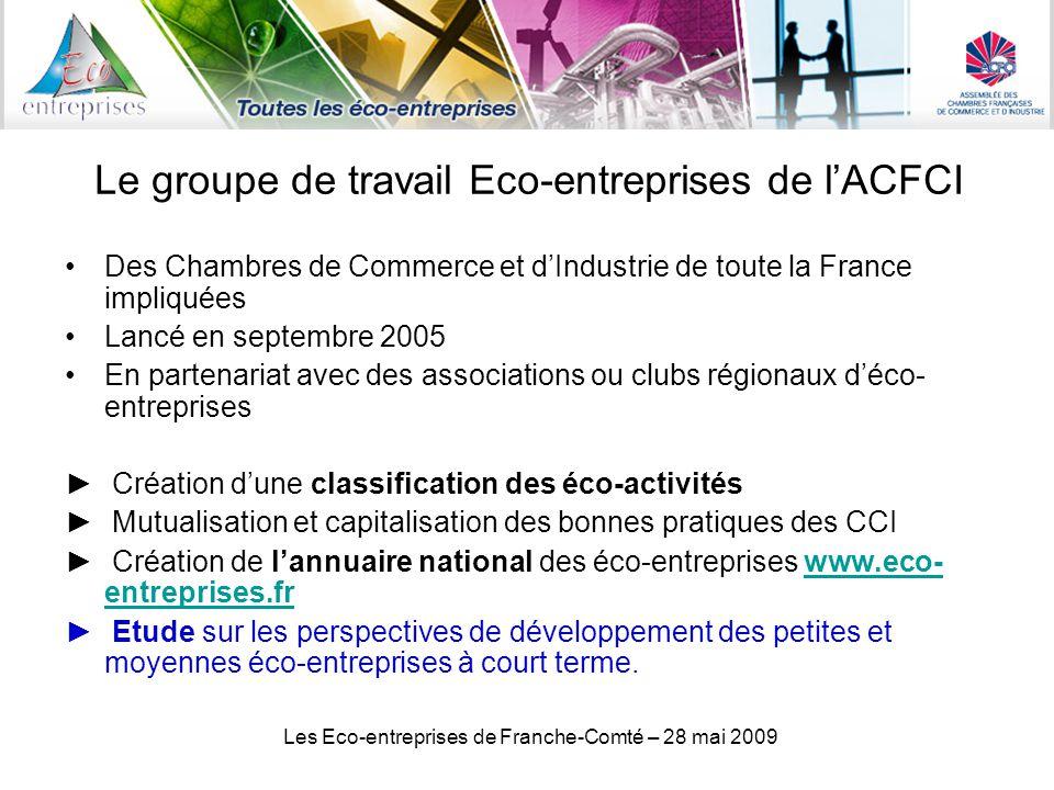Le groupe de travail Eco-entreprises de l'ACFCI