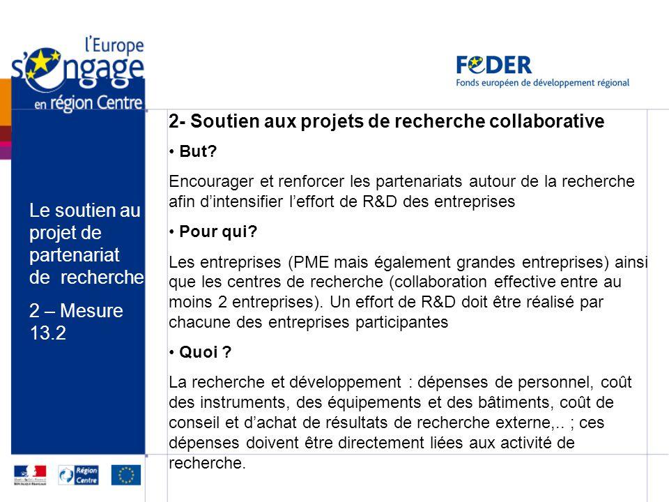 2- Soutien aux projets de recherche collaborative