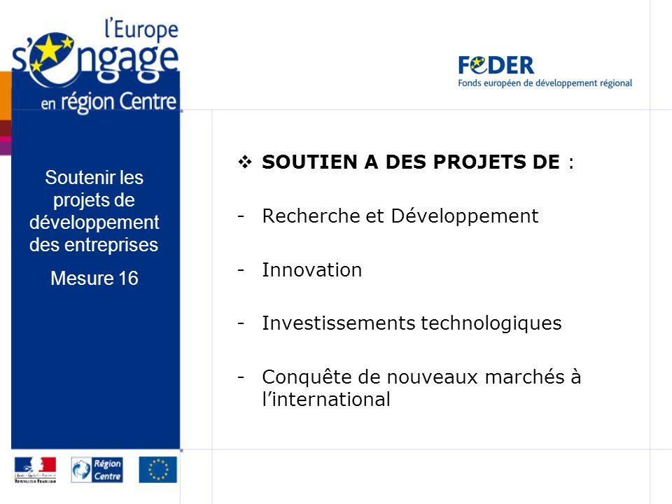 Soutenir les projets de développement des entreprises