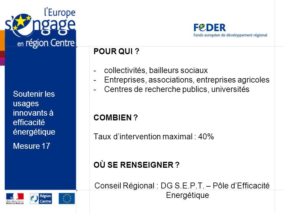 Conseil Régional : DG S.E.P.T. – Pôle d'Efficacité Energétique