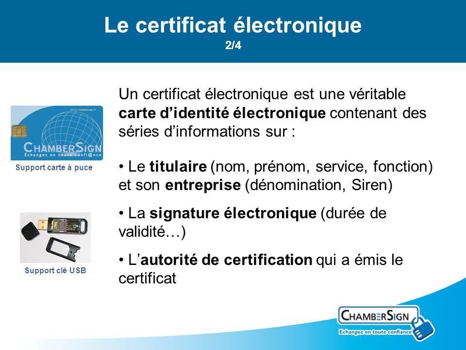 Le certificat électronique 2/4