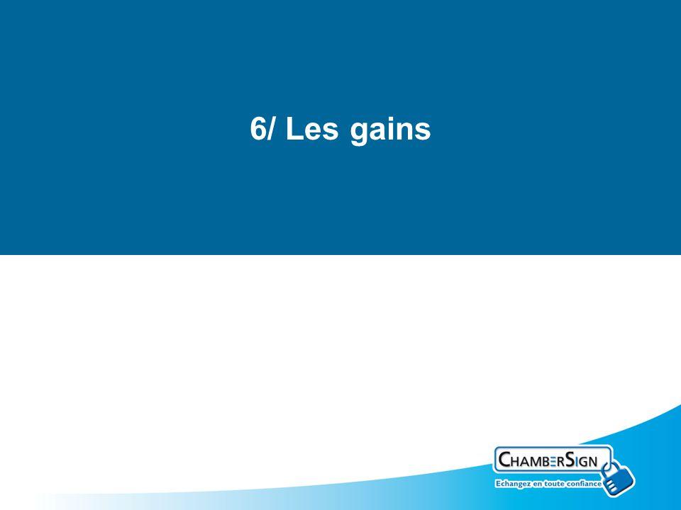 6/ Les gains