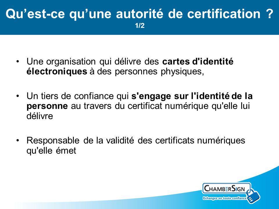 Qu'est-ce qu'une autorité de certification 1/2