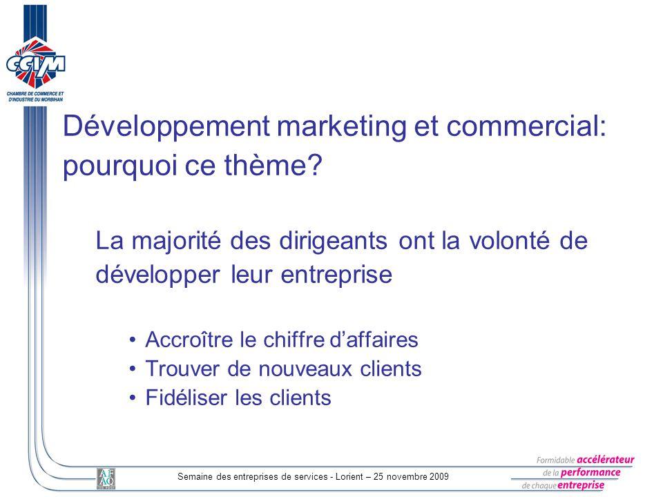 Semaine des entreprises de services - Lorient – 25 novembre 2009
