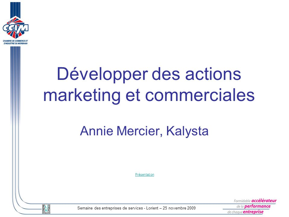 Développer des actions marketing et commerciales