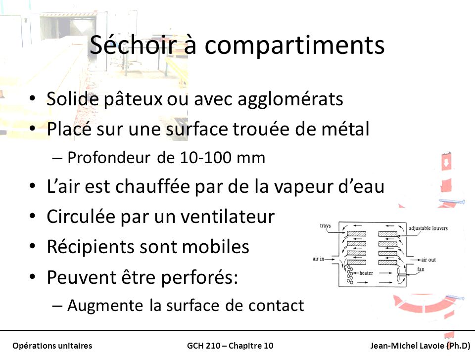 Séchoir à compartiments