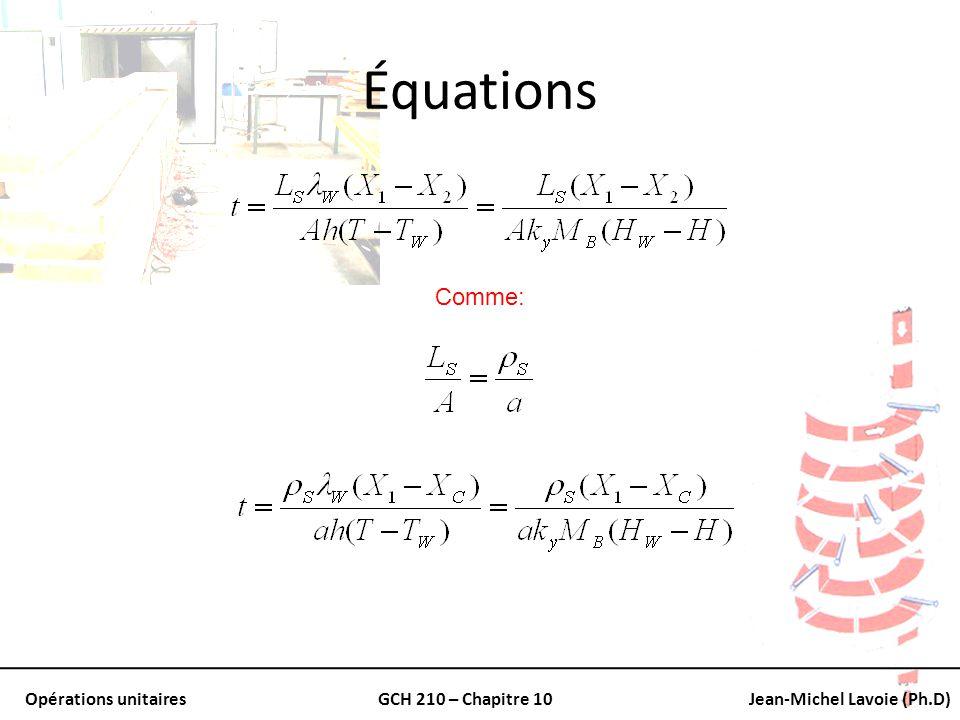 Équations Comme: