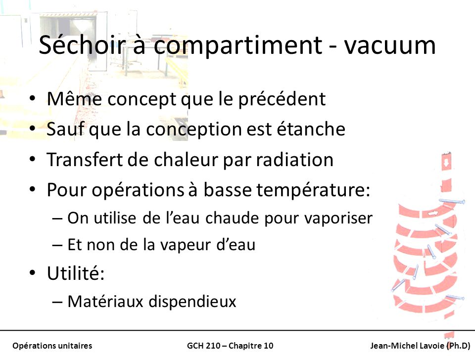 Séchoir à compartiment - vacuum