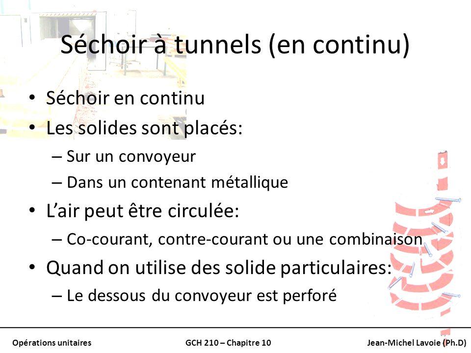 Séchoir à tunnels (en continu)