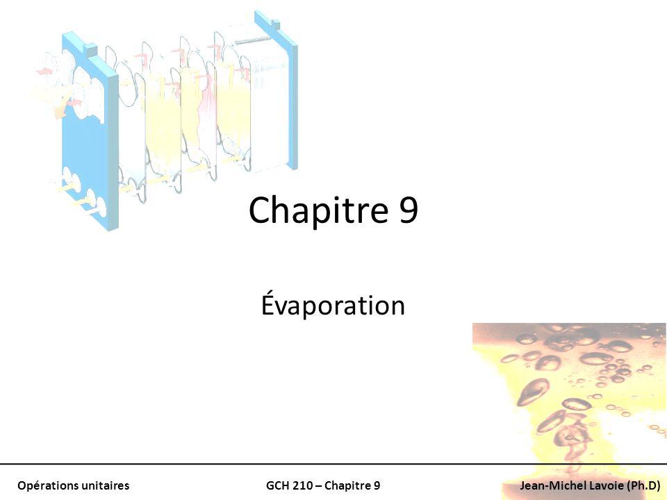 Chapitre 9 Évaporation