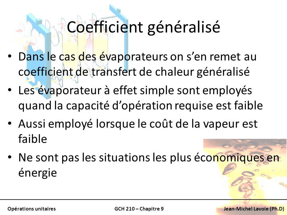 Coefficient généralisé