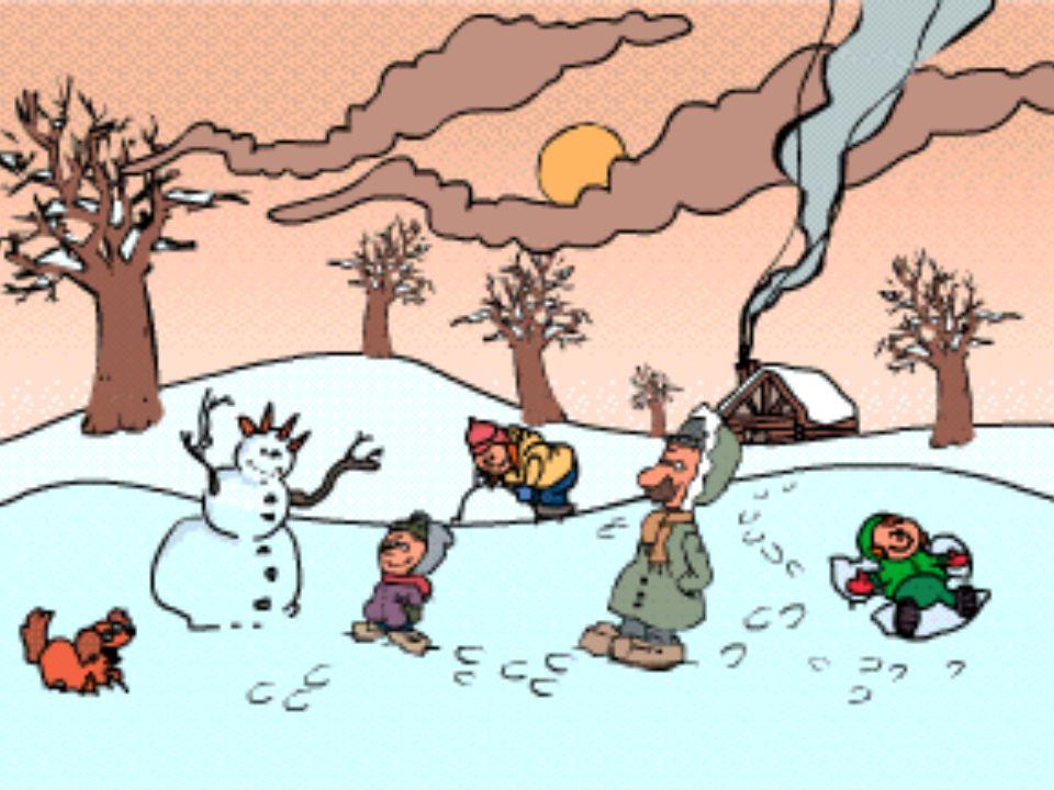 Durant ce temps, les enfants profitent des joies hivernales en s'amusant dans la neige pendant leur long congé du temps des fêtes.