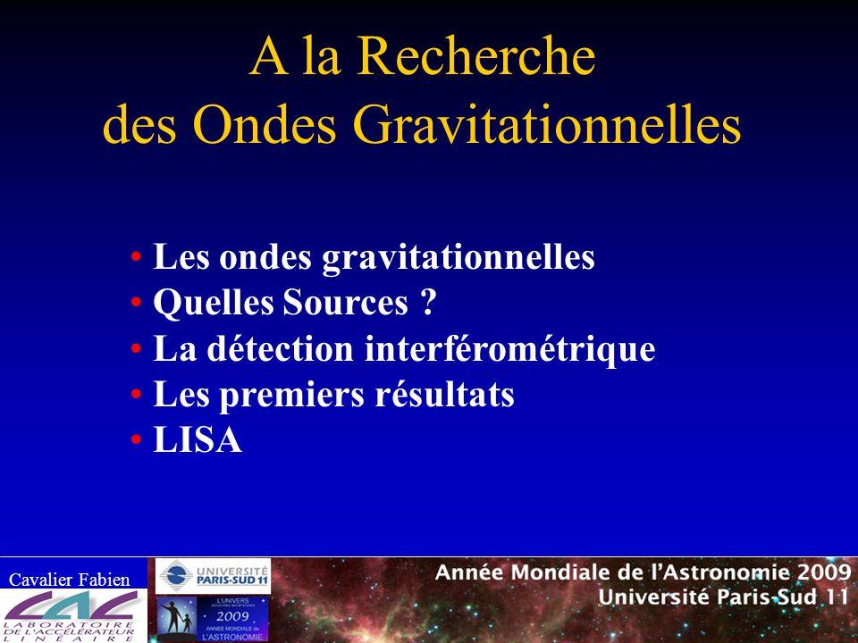 des Ondes Gravitationnelles