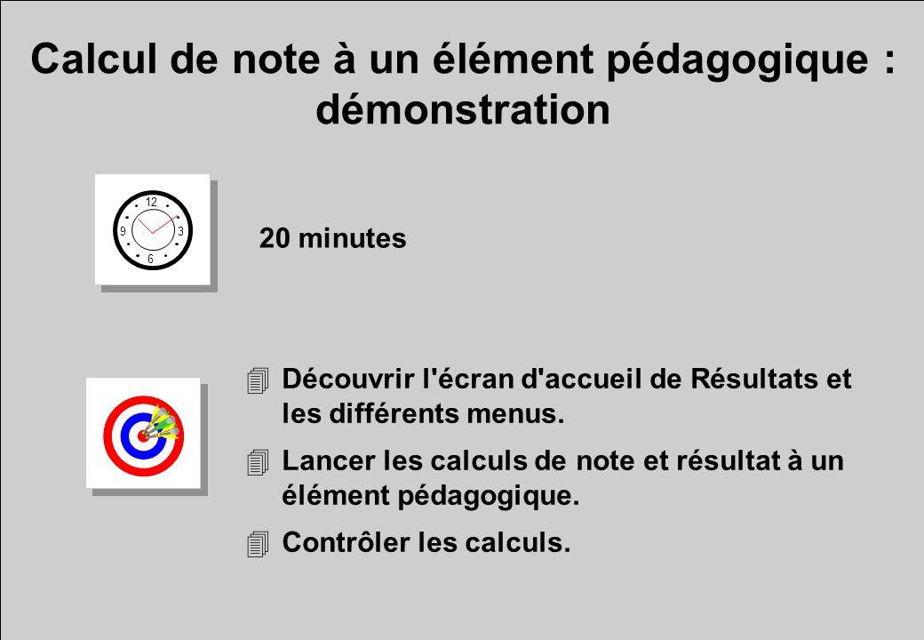 Calcul de note à un élément pédagogique : démonstration