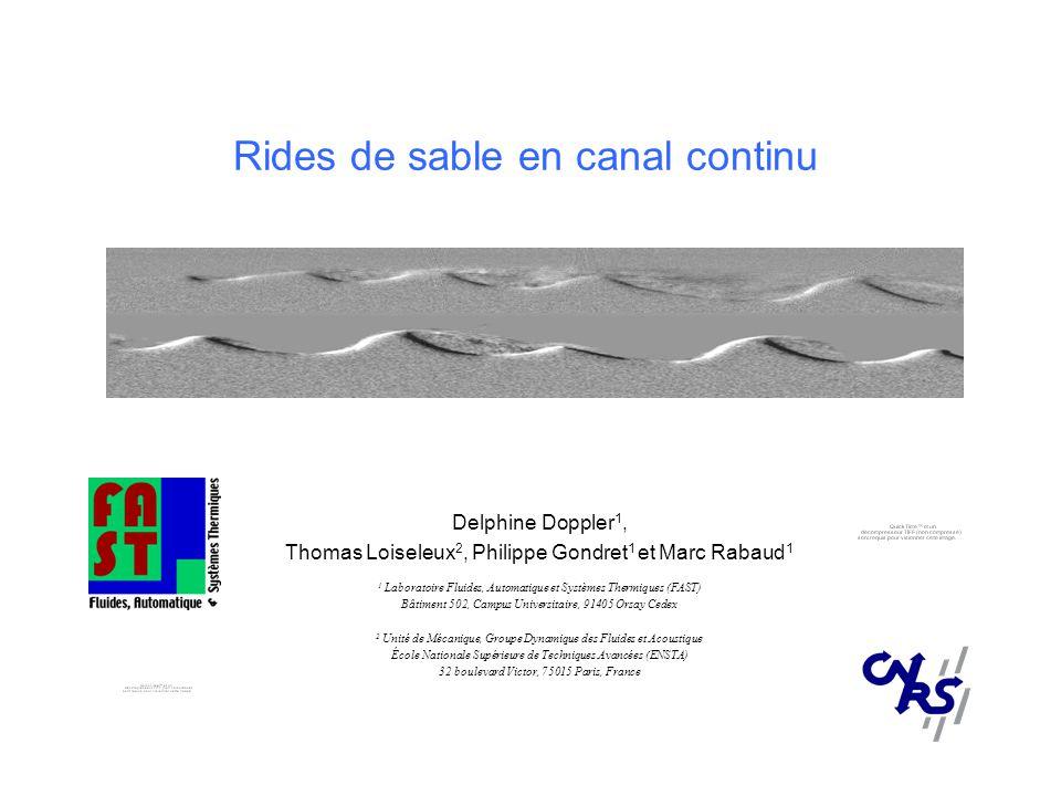 Rides de sable en canal continu