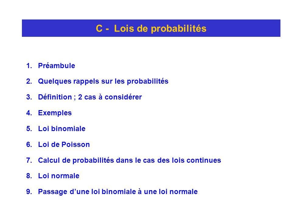 C - Lois de probabilités