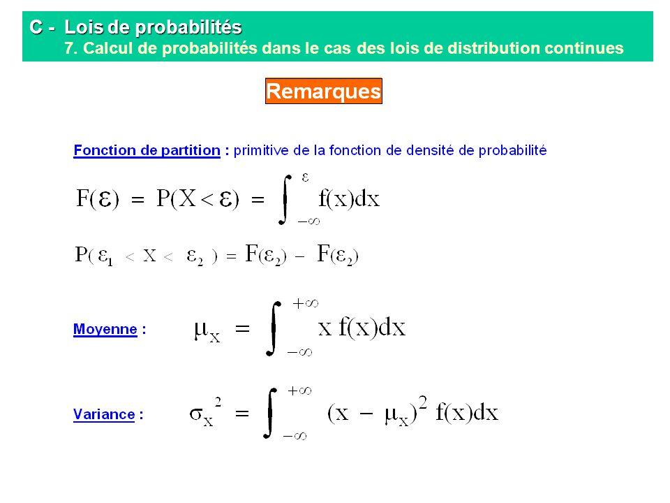 C -. Lois de probabilités 7