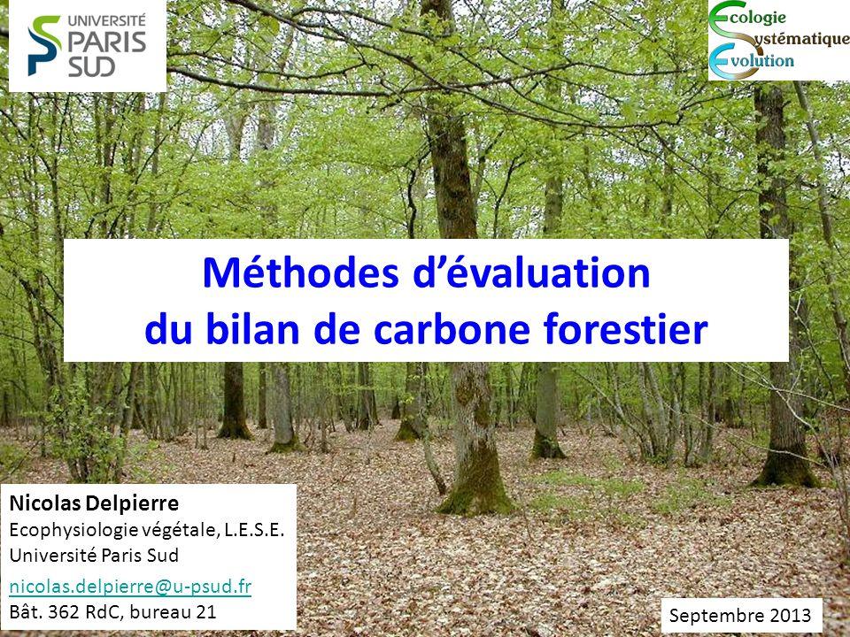 Méthodes d'évaluation du bilan de carbone forestier