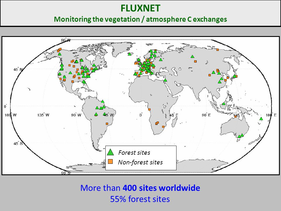 Monitoring the vegetation / atmosphere C exchanges