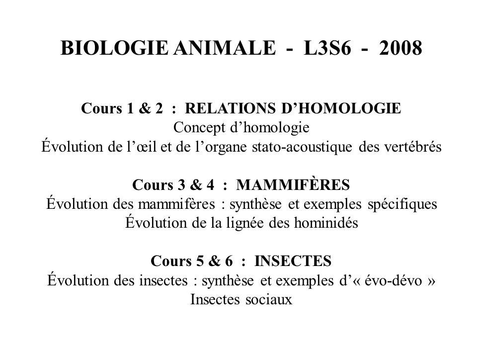Cours 1 & 2 : RELATIONS D'HOMOLOGIE