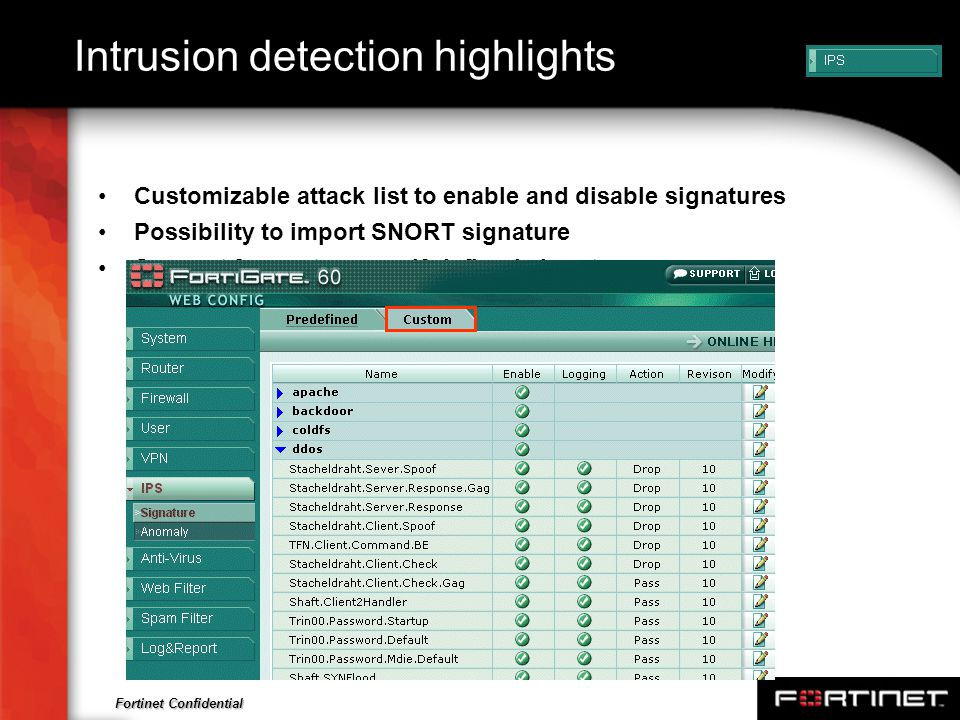 Intrusion detection highlights