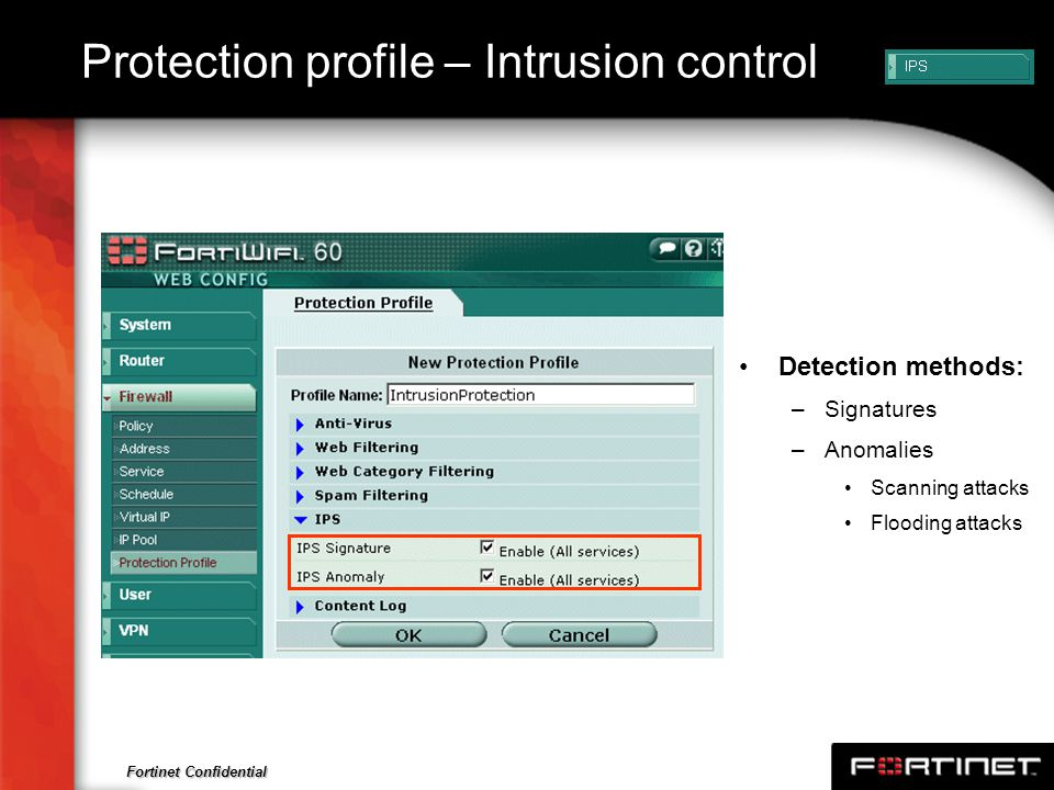 Protection profile – Intrusion control