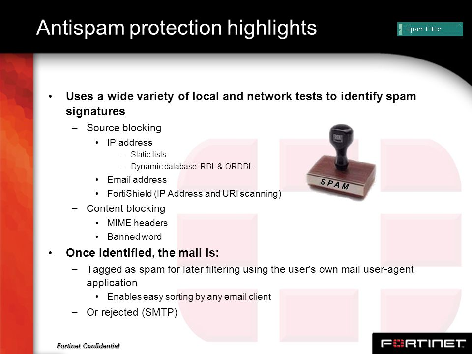 Antispam protection highlights