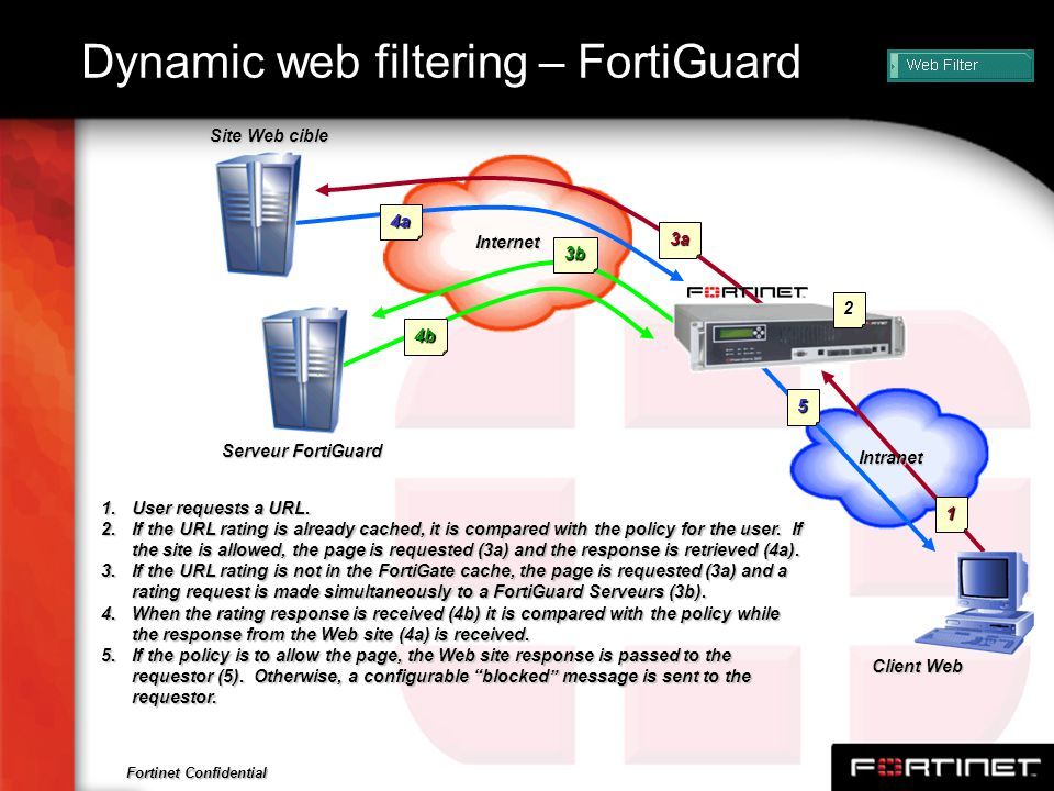Dynamic web filtering – FortiGuard