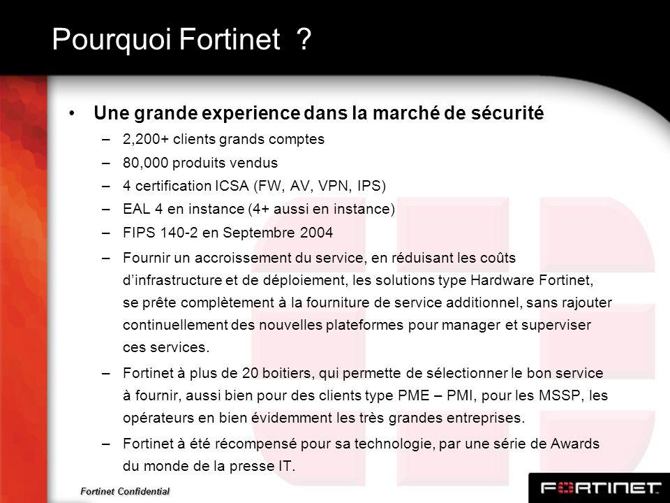 Pourquoi Fortinet Une grande experience dans la marché de sécurité